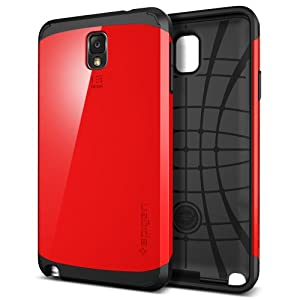Galaxy Note 3 Case, Spigen Slim Armor Case for Galaxy Note 3 - Retail Packaging - Crimson Red (SGP10461)