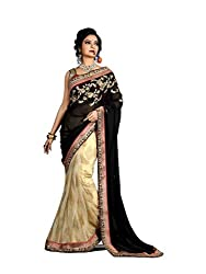 Bikaw Embroidered Black Georgette Party Wear Saree - BT-6509-NIR