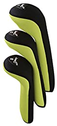 Stealth Club Covers 19120 Set 1-3-5 Golf Club Head Cover, Wasabi Green/Black