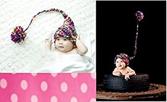 Handmade Long Tail Baby Hat PLUS A FREE GIFT CELL PHONE ANTI-DUST PLUG