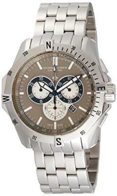 Chase-Durer Men's 850.2TSS Crossfire Stainless Steel Chronograph Watch