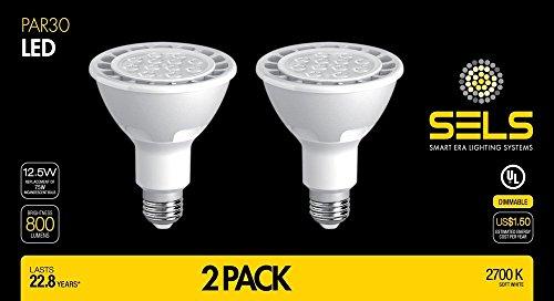 Sels Led Par30 Dimmable Led Light Bulb 12 Watts 800 Lumens 75
