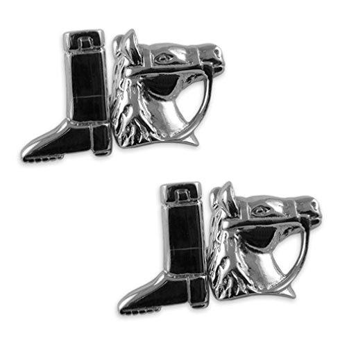 katy-craig-collana-in-argento-sterling-motivo-equitazione-per-gemelli-colore-nero