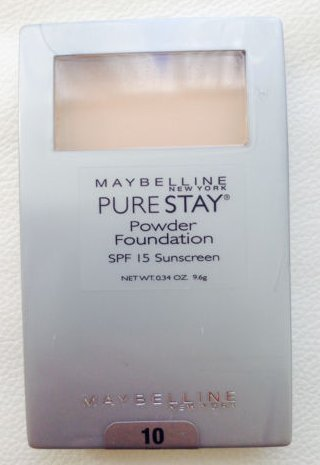 Maybelline New York Pure Stay Powder Foundation, Ivory 10, 0.34 Oz front-68297