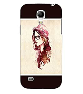 PrintDhaba Hat Girl D-1279 Back Case Cover for SAMSUNG GALAXY S4 MINI (Multi-Coloured)