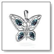 Alexandrite Butterfly Pendant