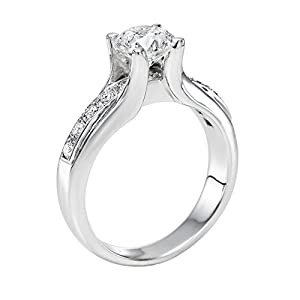 GIA Certified 14k white-gold Round Cut Diamond Engagement Ring (1.33 cttw, D Color, SI2 Clarity)