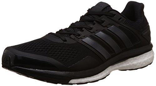 adidas Supernova Glide 8, Scarpe Running Uomo, Nero (Core Black/Utility Black/Ftwr White), 43 1/3 EU