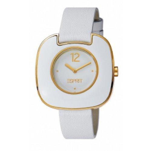 Esprit Damen-Armbanduhr Espace Analog Quarz Leder ES103762005