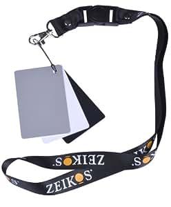 Zeikos ZE-DGC Digital Grey Card Set with Lanyard