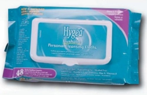 Hygea Flushable Personal Cleansing Cloths 48 wipes