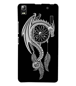 ColourCraft Dragon Art Design Back Case Cover for LENOVO A7000