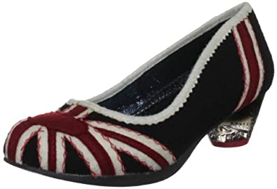 Irregular Choice Women's Posey Black/Red/White Mary Janes 4068-1A 4 UK