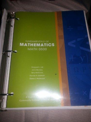 Fundamentals of Mathematics Math 0500