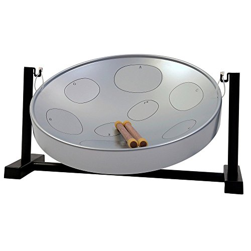 Panyard Jumbie Jam Table Top Steel Drum Kit Silver (Steel Pan Case compare prices)