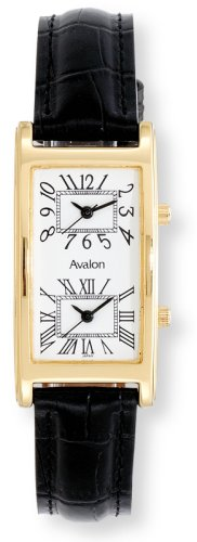 Avalon Unisex World Traveler 2 Time Zone Watch # 7090-3