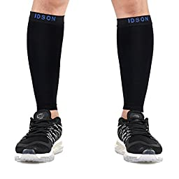 Idson Calf Compression Sleeves,20-30mmHg Graduated Leg Compression Sleeve for Men and Women,Calf Guard Shin Splints Sleeve,Anti-Varicose,Calf Pain Relief,Great for Running,Training,Cycling,Travel