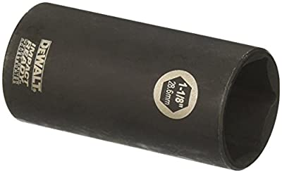 DEWALT DW22962 1-1/8-Inch IMPACT READY Deep Socket for 1/2-Inch Drive