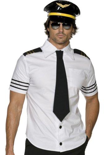Smiffys Airline Captain Mens Airplane Pilot Halloween