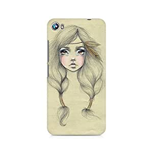 Mobicture Girl Abstract Premium Designer Mobile Back Case Cover For Micromax Canvas Fire 4 A107