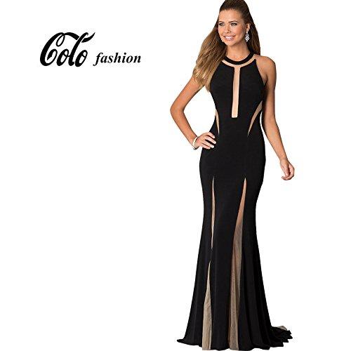 CoCo-Fashion-Womens-Irregular-Mech-Insert-Mermaid-Evening-Gowns-Maxi-Dresses
