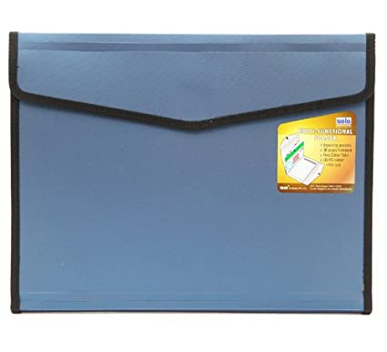 Solo EF  886 Executive Portfolio   6 Sections  With Pad  A4   Blue available at Amazon for Rs.291