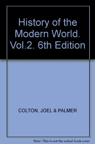History of the Modern World. Vol.2. 6th Edition