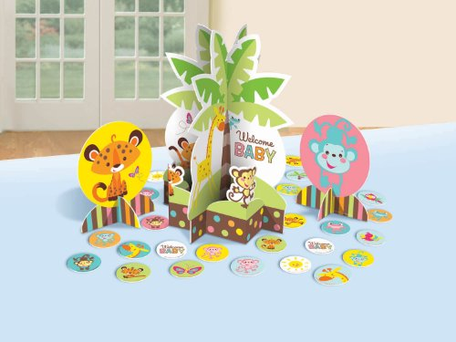 Fisher Price Table Decorating Kit Baby Shower Monkey Jungle Party Supplies front-526012