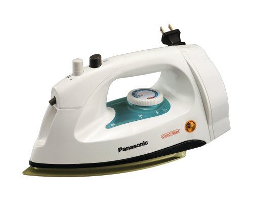 Steam Iron with Automatic Retractable Cord Reel and Non-Stick CoatingB00009V2Q5