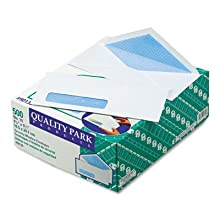 Quality Park 90130 Quality Park Security Window Envelopes, Contemporary Seam, #10, White, 500/Box