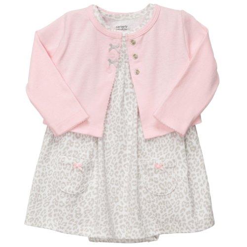 Carter'S 2-Piece Dress Set - Leopard Print - Newborn