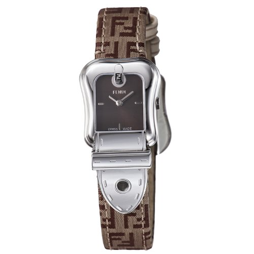 Fendi B. Fendi Small Brown Dial and Fendi Brown Strap Quartz Watch - F370222F