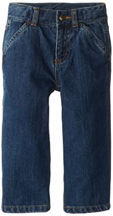 Carhartt Little Boys' Washed Denim Dungaree Toddler, Worn In Blue, 4T
