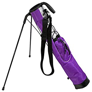 Knight Pitch and Putt Golf Lightweight Stand Carry Bag, Purple