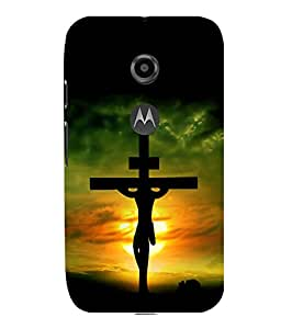 printtech Holy Cross Jesus Back Case Cover for Motorola Moto E2::Motorola Moto E (2nd Gen)