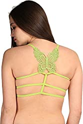 BYC Butterfly Strings Women's Sports Green Bra