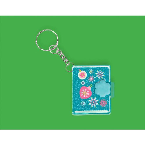 Christmas Glitter Notebook Keychain
