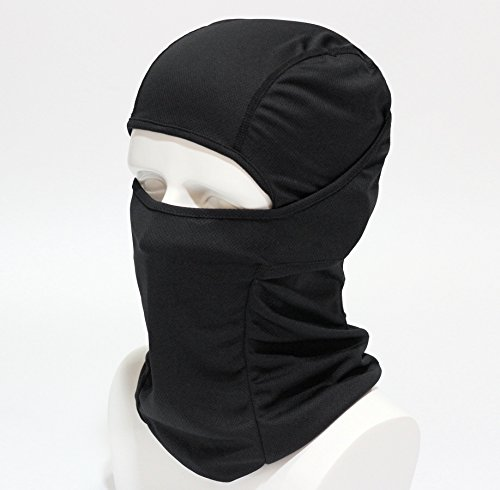 BXB Type 3Way tactical face mask / army Balaclava /SWAT soup Hat military Camo / neck warmer year cap, versatile headwear ★ ventilation / insulation / drying good ~ Sarah gone and donning a-military / survival games / Bicycle / Motorcycle / outdoor (black)