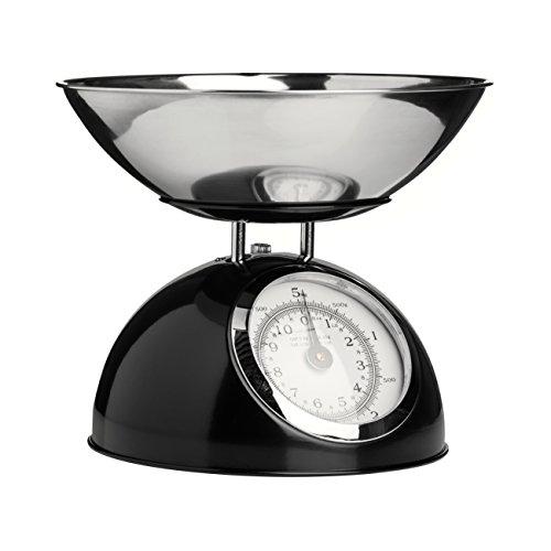 Premier Housewares 0807278 Balance de Cuisine Electronique avec Bol Acier Inoxydable Noir