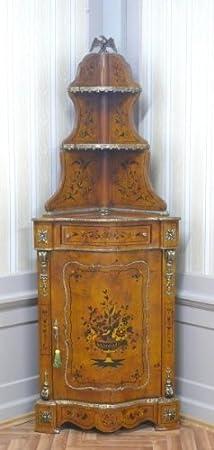 Armario de esquina vitrina barroco cómoda Luis XV MoAl0418