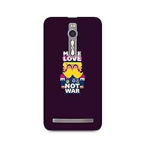 Ebby Make Love Not War Premium Printed Case For Asus Zenfone 2