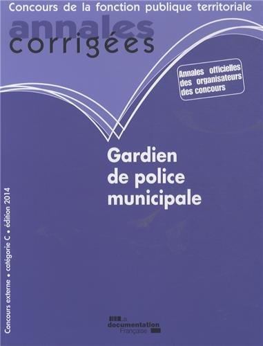 Gardien de police municipale 2014