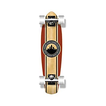 "SlimKick mini blank and Graphic Longboard Complete Skateboard Cruise Vintage Style 25"" x 6.5"""