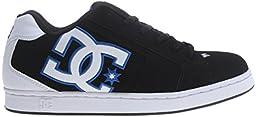 DC Men\'s Net Skate Shoe, Black/White/Blue, 10 M US