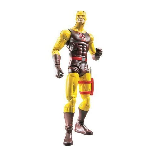 Marvel Legends Exclusive Nemesis Build-A-Figure Wave Action Figure Daredevil (Yellow and Brown Suit) by Hasbro