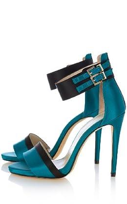 Colorblock Ankle Strap Sandals