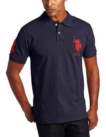U.S. Polo Assn. Men's Solid Short Sleeve Pique Polo, Classic Navy, Medium