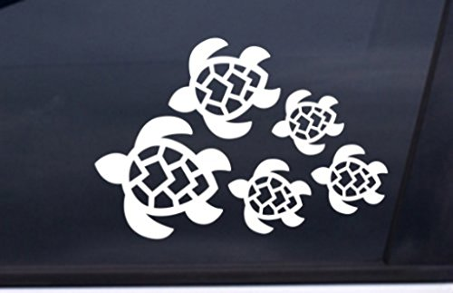 Turtle Family Decal, Turtles Swimming Decal   Car, Truck, Wall, Laptop, Phone...  7 X 4.8 In   KCD221 (Turtle Car Decal compare prices)