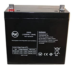 Sunrise Medical BAT22 GP 22 AGM 22-NF 12V 55Ah Wheelchair Battery - This is an AJC Brand™ Replacement