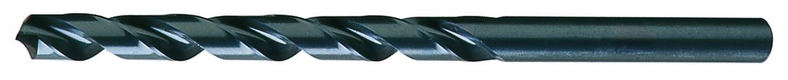 Cleveland C08676 High-Speed Steel General Purpose Taper Length Drill Bit, Steam Oxide Finish, Round Shank, Spiral Flute, 118 Degrees Radial Point, #27 Size (Pack of 10) drill bit blk oxide 16p pkg of 5